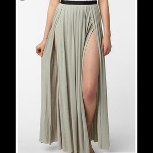 Urban outfitters double split skirt